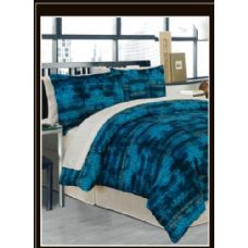 6 Units of Alligator Teal Bed In A Bag California King Size - Bed Sheet Sets