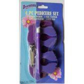 48 Units of Pedicure Set 4 Piece - Manicure / Pedicure Items