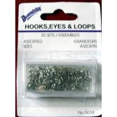 48 Units of Hooks, Eyes & Loops 30 Sets - Wall Decor