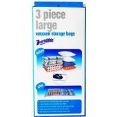 12 Units of 3 Piece Large Vacuum Storage Bags - Food Storage Bags & Containers