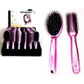 72 Units of Deluxe Hair Brush Assortment on  Counter Display - Hair Brush