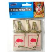 48 Units of Two Pack Wooden Mouse Trap
