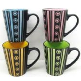 48 Units of 11 Ounce Stoneware Mug Modern Design, CCIB - Coffee Mugs