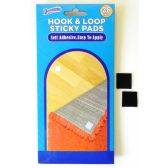 48 Units of Self Adhesive Hook and Loop Sticky Pads 36 pack (like Velcro) - Hooks