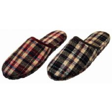 36 Units of Men Plaid Slippers - Mens Slippers