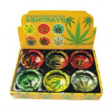 48 Units of Ashtray Glass Leaves - Ashtrays(Plastic/Glass)