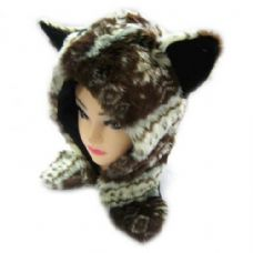 36 Units of Short Animal Hat - Winter Animal Hats
