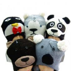60 Units of Knit Animal Hat - Winter Animal Hats