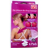 48 Units of The Ultimate Bra Strap Solution 6 Pack TV - Womens Bras And Bra Sets