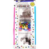 48 Units of Stationary Value Pack Paper Clips Stick Pins - Push Pins and Tacks