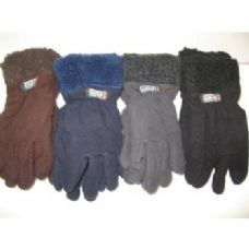 96 Units of Fleece Gloves w/ Fur Top