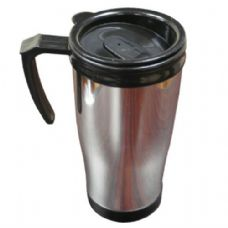 48 Units of Plastic Chrome Mug 16oz - Coffee Mugs