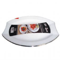 48 Units of  Plastic White Plate Oval 10.5in 2PK - Plastic Bowls and Plates