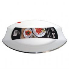 48 Units of  Plastic White Plate Oval 7.5in 4PK - Plastic Bowls and Plates