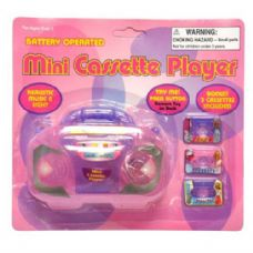 144 Units of Mini Toy Radio Player - GIRLS TOYS