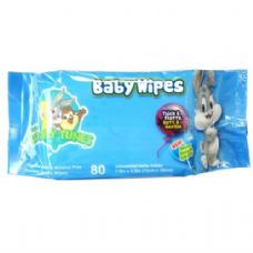 24 Units of Baby Wipes 80CT Baby Looney Tunes Blue - Baby Beauty& Care Items