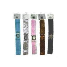 144 Units of Glitter Belt ASTD Color - Womens Belts