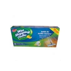 12 Units of Wet Mopping Cloths 15CT Lemon - Cleaning