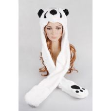 24 Units of Panda Long Animal Hat - Winter Animal Hats