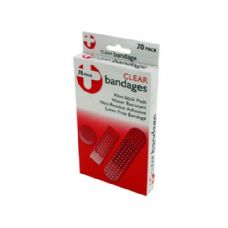 72 Units of Clear bandage pack - Bandages and Support Wraps
