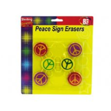 72 Units of Peace Sign Erasers - ERASERS