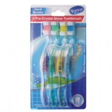 96 Units of Amoray Toothbrush 4PK Shine Hard - Toothbrushes and Toothpaste