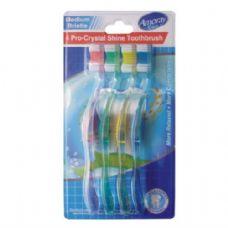 48 Units of Amoray Toothbrush 4PK Shine Medium - Toothbrushes and Toothpaste