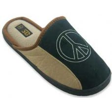 36 Units of Mens Slippers With Peace Sign - Mens Slippers
