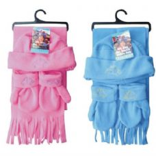 24 Units of Kids Winter 3PK Set Hat, Scarf, Mitten - Baby Apparel