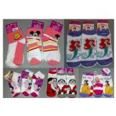 180 Units of Walt Dsisney Mix Socks For Girls - Girls Ankle Sock
