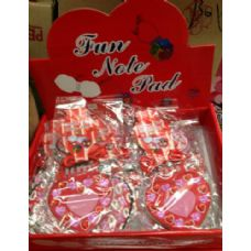 72 Units of Heart Shapped With Jewels Note pad - Valentines