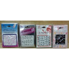 180 Units of Nail Decals , 3D nail Seal , And Nail Polish Stick - Manicure and Pedicure Items