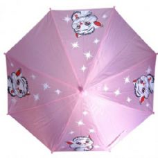 48 Units of Kid Size Cat Umbrella Purple - Umbrellas & Rain Gear