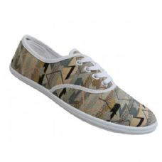 24 Units of Women's Print Canvas Shoes - Women's Sneakers