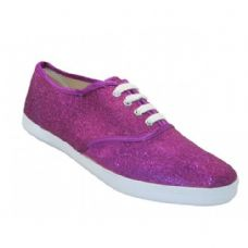 24 Units of Women's Glitter Canvas Shoes - Women's Sneakers