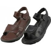 24 Units of Men's Velcro Sandals - Men's Flip Flops & Sandals