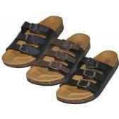 24 Units of Women's Slide 3 Buckle Slide Sandals - Women's Sandals