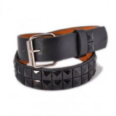 60 Units of Children's Metal Studded Belts in Black