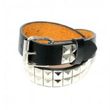 60 Units of Boys Silver Metal Studded Belts in Black
