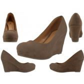 "12 Units of Women's Microsuede With 3 1/4"" Wedge - Women's Heels & Wedges"
