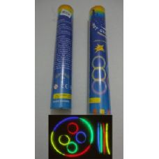 "40 Units of 50pc 8"" Glow Sticks with Connecters - LED Party Items"