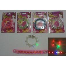 """120 Units of 8.5"""" Blinking Spike Bracelet - Light Up Toys"""