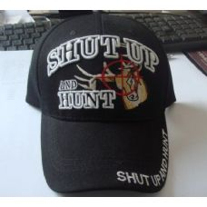 48 Units of SHUT UP & HUNT Hat *Deer in Crosshairs* - Hunting Caps