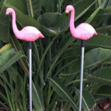24 Units of Yard Stake Solar Light-Flamingo - Garden Decor