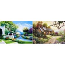 20 Units of 3D Picture-Cottage/Brook - 3D Pictures