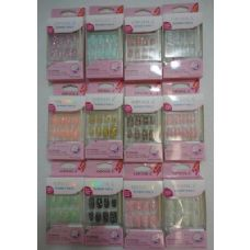 72 Units of Decorated Artificial Nails-Sparkle - Nail Polish