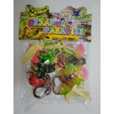 72 Units of 12pc Plastic Bugs - Animals & Reptiles