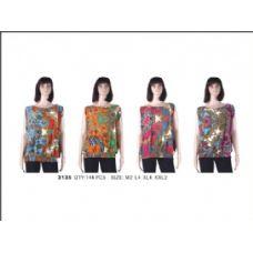 36 Units of Ladies Printed Fashion Top - Womens Fashion Tops