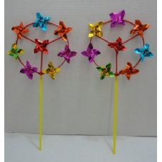 "144 Units of 7"" Round Wind Spinner with 8 Pinwheels - Wind Spinners"