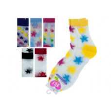 108 Units of hi cut argyle 6-8 socks - Girls Crew Socks